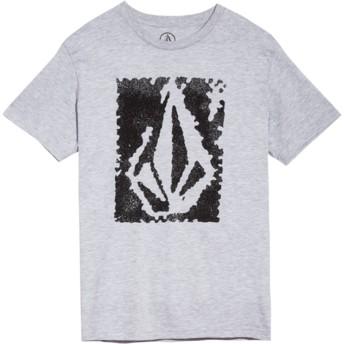 Volcom Youth Heather Grey Pixel Stone Grey T-Shirt