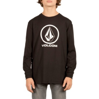 Volcom Youth Black Circle Stone Black Long Sleeve T-Shirt