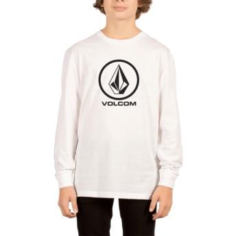 Volcom Youth White Circle Stone White Long Sleeve T-Shirt