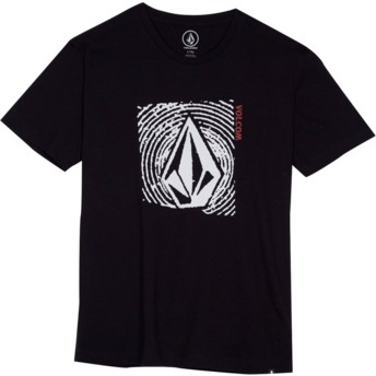 Volcom Youth Black Stonar Waves Black T-Shirt