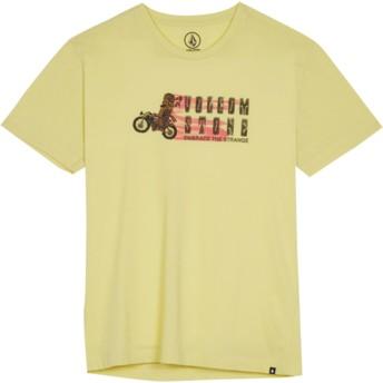 Volcom Youth Acid Yellow Moto Mike Yellow T-Shirt
