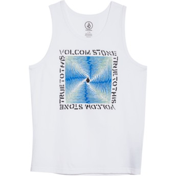 Volcom Youth White Stoneradiator White Tank Top