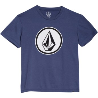 Volcom Youth Deep Blue Classic Stone Navy Blue T-Shirt