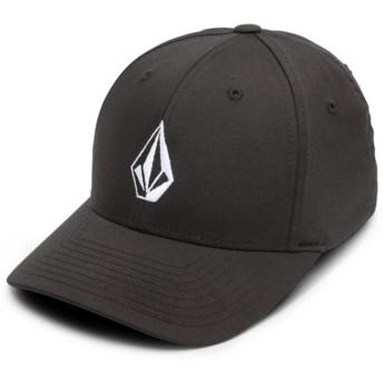 Volcom Curved Brim Youth Black Full Stone Xfit Black Fitted Cap