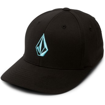 Volcom Curved Brim Youth Blue Bird Full Stone Xfit Black Fitted Cap