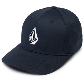 Volcom Curved Brim Youth Navy Full Stone Xfit Navy Blue Fitted Cap
