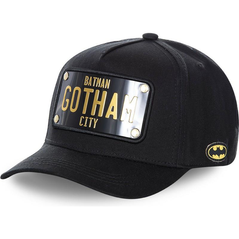 d8ef453715128 Capslab Curved Brim Batman Gotham City Plate BATP4 DC Comics Black ...