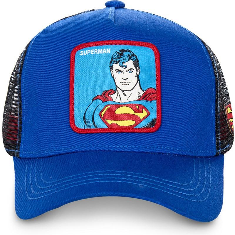 Capslab Classic Superman DC2 SUP DC Comics Blue Trucker Hat  Shop ... e9fbed2f789