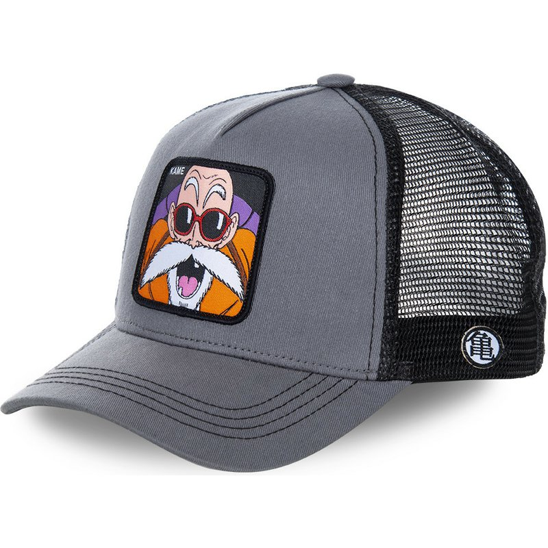 capslab-master-roshi-kam-dragon-ball-grey-trucker-hat