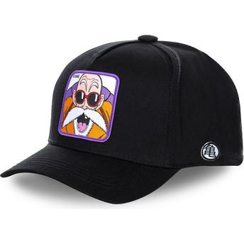 Capslab Curved Brim Master Roshi KAM Dragon Ball Black Snapback Cap