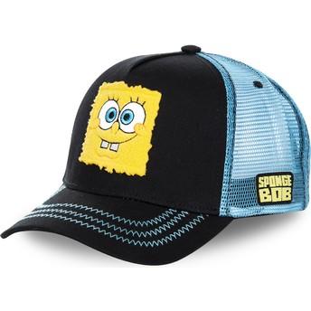 Capslab SpongeBob SquarePants SPOBLK Black and Blue Trucker Hat