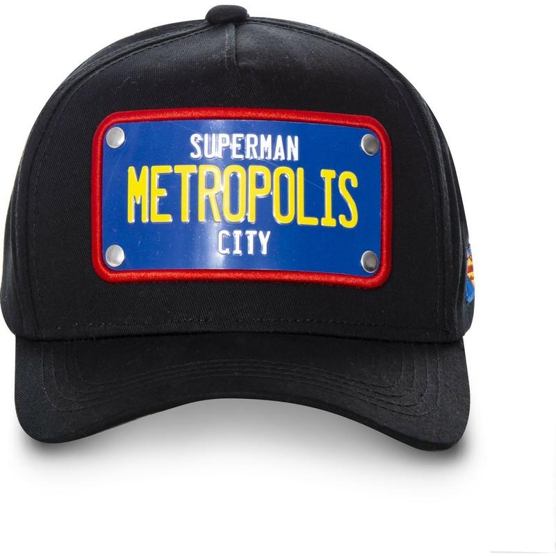 90e0161763517 Capslab Curved Brim Superman Metropolis City Plate SUP1 DC Comics ...