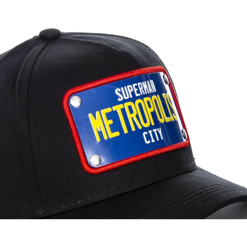 Capslab Curved Brim Superman Metropolis City Plate SUP1 DC Comics ... e6414dbb3e6