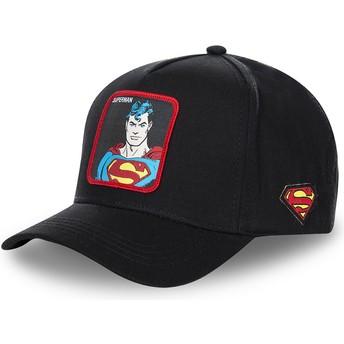 Capslab Curved Brim Classic Superman SUP4 DC Comics Black Snapback Cap