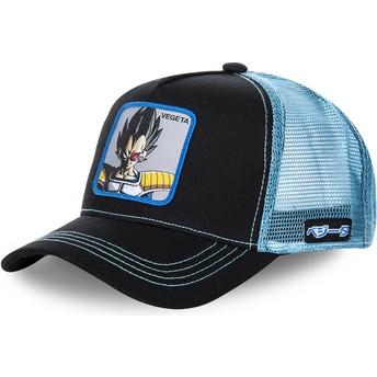 Gorra trucker negra y azul Vegeta VEGB Dragon Ball de Capslab