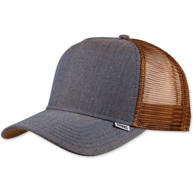 djinns-2tone-oxford-brown-and-blue-trucker-hat