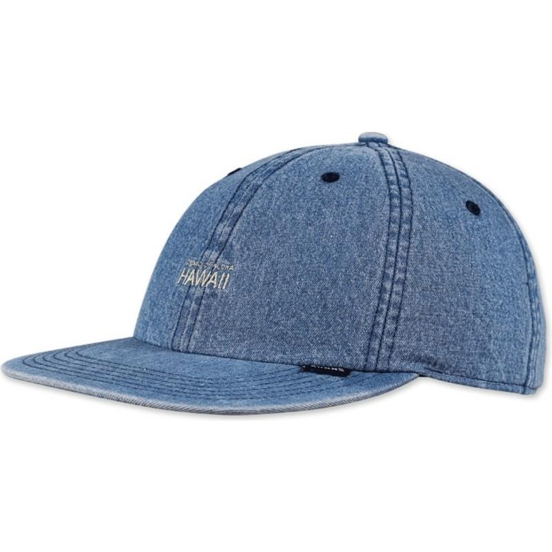 Djinns 6 Panel Hawaii Blue Denim Snapback Cap   Shop Online at ... f088dc63221