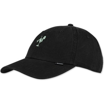 Djinns Curved Brim Washed Girl Black Adjustable Cap