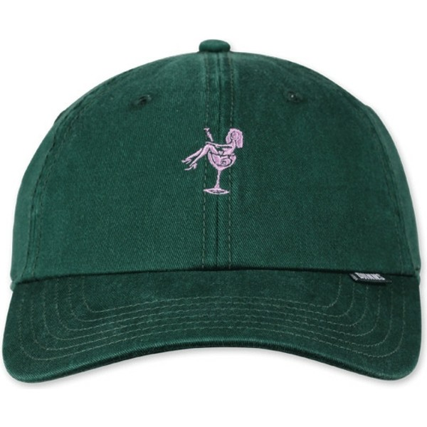djinns-curved-brim-washed-girl-bottle-green-adjustable-cap