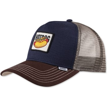 Djinns Food Hot Dog Navy Blue Trucker Hat