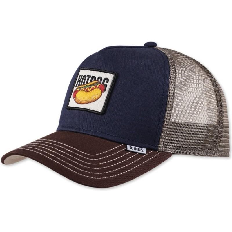 544e61ac85c Djinns Food Hot Dog Navy Blue Trucker Hat   Shop Online at Caphunters