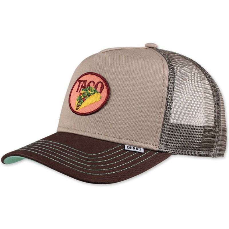 djinns-food-taco-khaki-trucker-hat