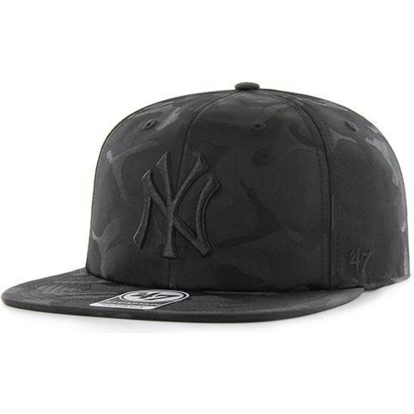 47-brand-flat-brim-new-york-yankees-mlb-captain-jigsaw-black-camouflage-snapback-cap