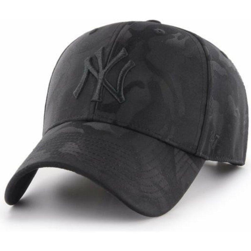 47-brand-curved-brim-new-york-yankees-mlb-clean-up-jigsaw-black-camouflage-cap