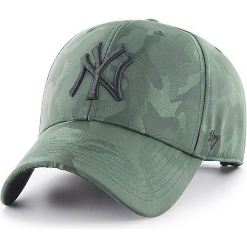 37397fb3 47 Brand Curved Brim New York Yankees MLB Clean Up Jigsaw Green ...
