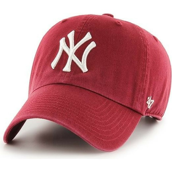 47-brand-curved-brim-new-york-yankees-mlb-clean-up-cardinal-red-cap