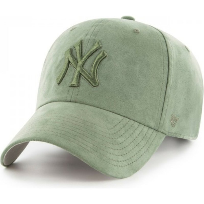 edda8aae7f4c4 47 Brand Curved Brim Green Logo New York Yankees MLB Clean Up Ultra ...