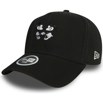 New Era Curved Brim 9FORTY A Frame Mickey and Minnie Mouse Walt Disney Black Snapback Cap