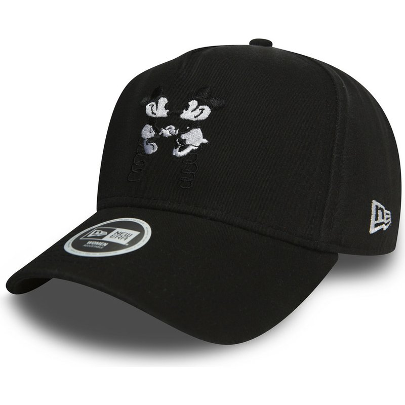 new-era-curved-brim-9forty-a-frame-mickey-and-minnie-mouse-walt-disney-black-snapback-cap
