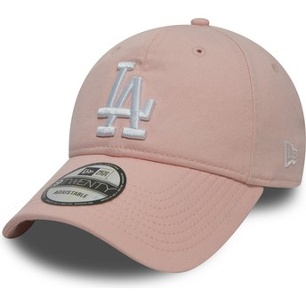 New Era Curved Brim 9TWENTY Essential Packable Los Angeles Dodgers MLB Pink Adjustable Cap