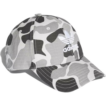 Adidas Curved Brim Trefoil Classic Grey Camouflage Adjustable Cap