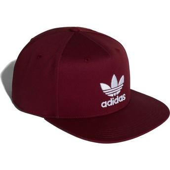 Adidas Flat Brim Trefoil Maroon Snapback Cap