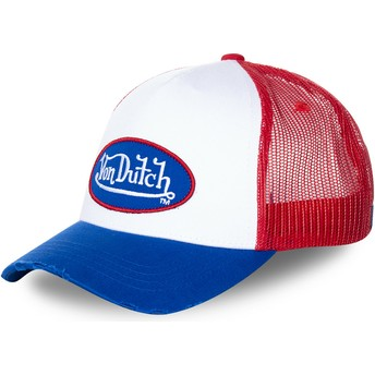 Von Dutch TRUCK16 White, Red and Blue Trucker Hat