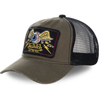 Von Dutch TRUCK06 Brown and Black Trucker Hat