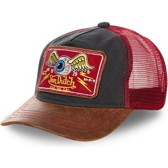 Von Dutch TRUCK04 Black, Red and Brown Trucker Hat