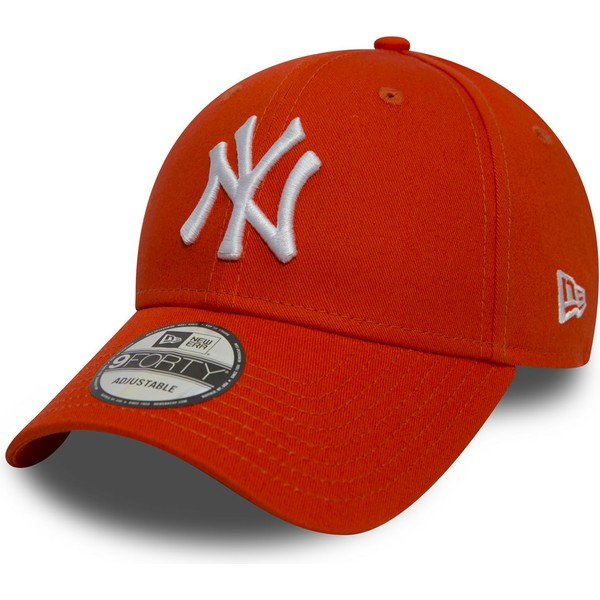 new-era-curved-brim-9forty-essential-new-york-yankees-mlb-orange-adjustable-cap