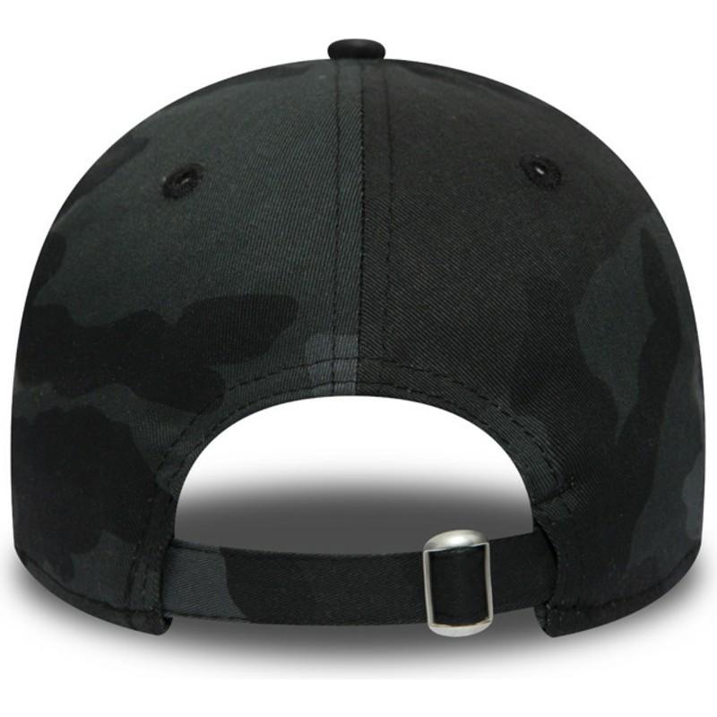 New Era Curved Brim Black Logo 9TWENTY Essential Packable New York ... fdca0d6fe68