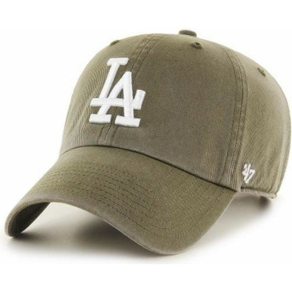 47-brand-curved-brim-los-angeles-dodgers-mlb-clean-up-brown-cap