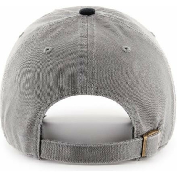 47-brand-curved-brim-black-logo-new-york-yankees-mlb-clean-up-two-tone-grey-cap-with-black-visor