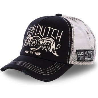 e900d45edb225 Von Dutch CREW4 Black Trucker Hat