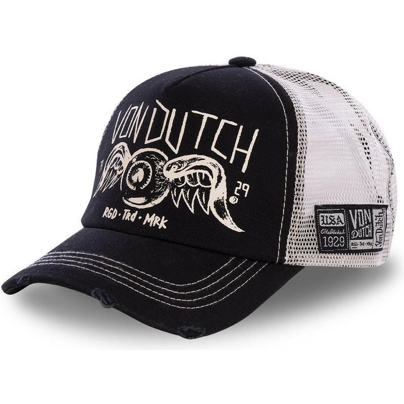 a0edaf04da9a9 Von Dutch CREW4 Black Trucker Hat   Shop Online at Caphunters