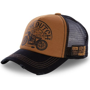 Von Dutch CREW6 Brown and Black Trucker Hat