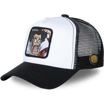 Gorra trucker blanca y negra Mr. Satan SAT1 Dragon Ball de Capslab