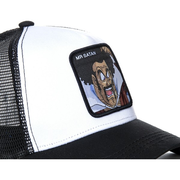 capslab-mr-satan-sat1-dragon-ball-white-and-black-trucker-hat