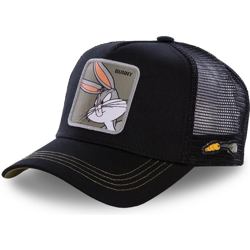 b33d01e3a Capslab Bugs Bunny BUN1 Looney Tunes Black Trucker Hat