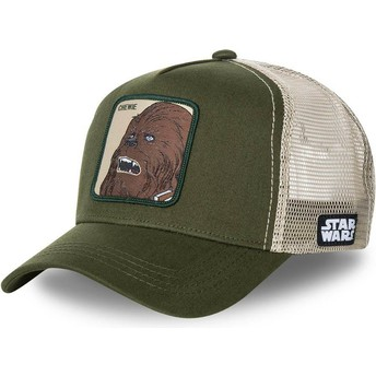 Capslab Chewbacca CHE1 Star Wars Green Trucker Hat